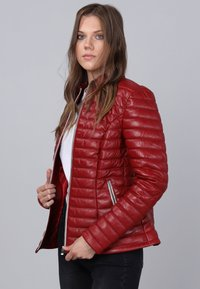 Basics and More - Leather jacket - red - 5