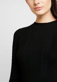 Forever New - LONG SLEEVE RIBBED DRESS - Jumper dress - black - 6
