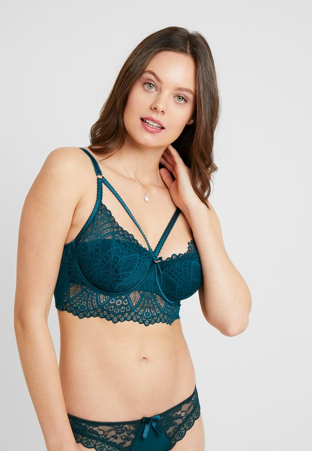 ODETTE LONGLINE - Underwired bra - emerald