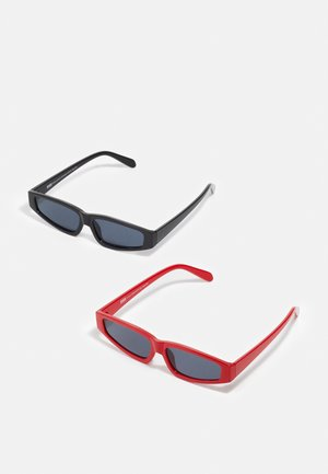 SUNGLASSES LEFKADA UNISEX 2 PACK - Sunglasses - black/red