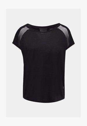 MIT NETZ-EINSATZ - Print T-shirt - black
