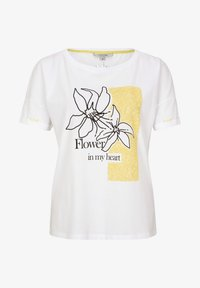 comma casual identity - MIT SKIZZEN-PRINT - Print T-shirt - white - 5