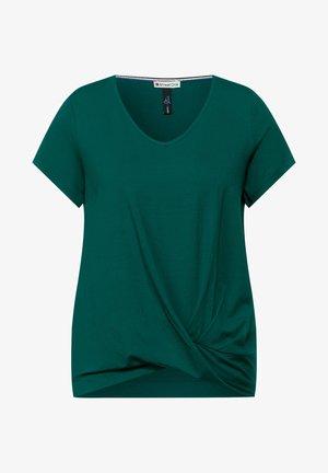 KNOTEN DETAIL - T-shirt print - grün