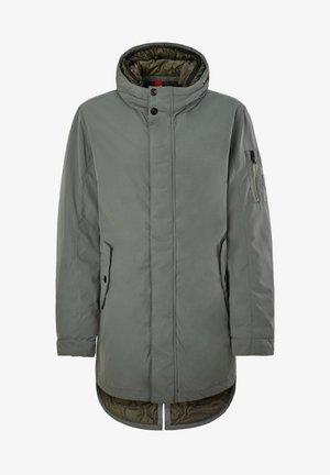 GEVOERDE MET DUBBELE - Winter coat - petrol