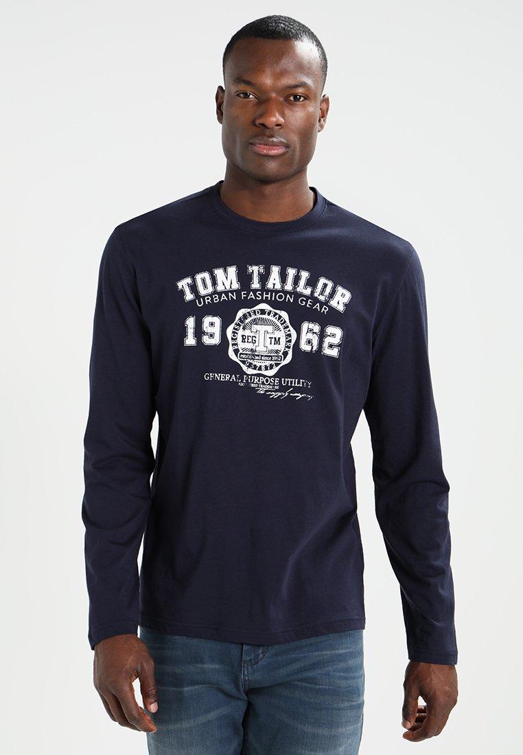 TOM TAILOR - LONGSLEEVE PRINT TEE - Maglietta a manica lunga - navy