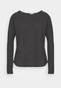 Rich & Royal - HEAVY LONGSLEEVE - Long sleeved top - charcoal - 0