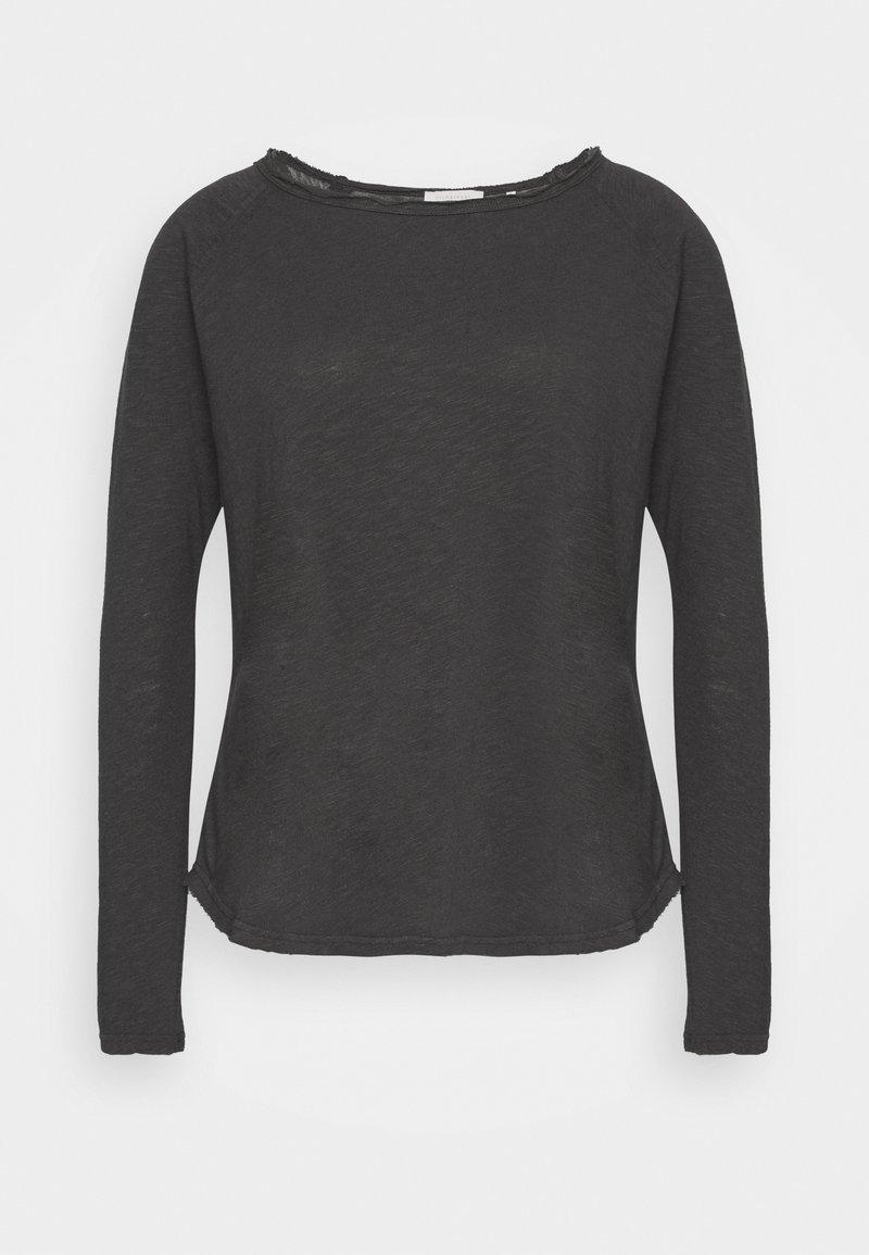 Rich & Royal - HEAVY LONGSLEEVE - Long sleeved top - charcoal