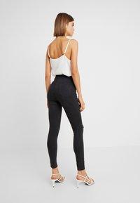 Cotton On - HIGH RISE - Skinny džíny - faded black - 2