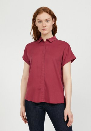 Button-down blouse - rosewood