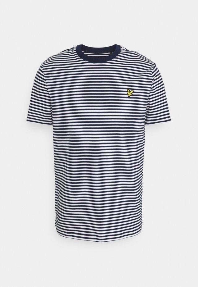 COLOUR STRIPE - T-shirt imprimé - navy