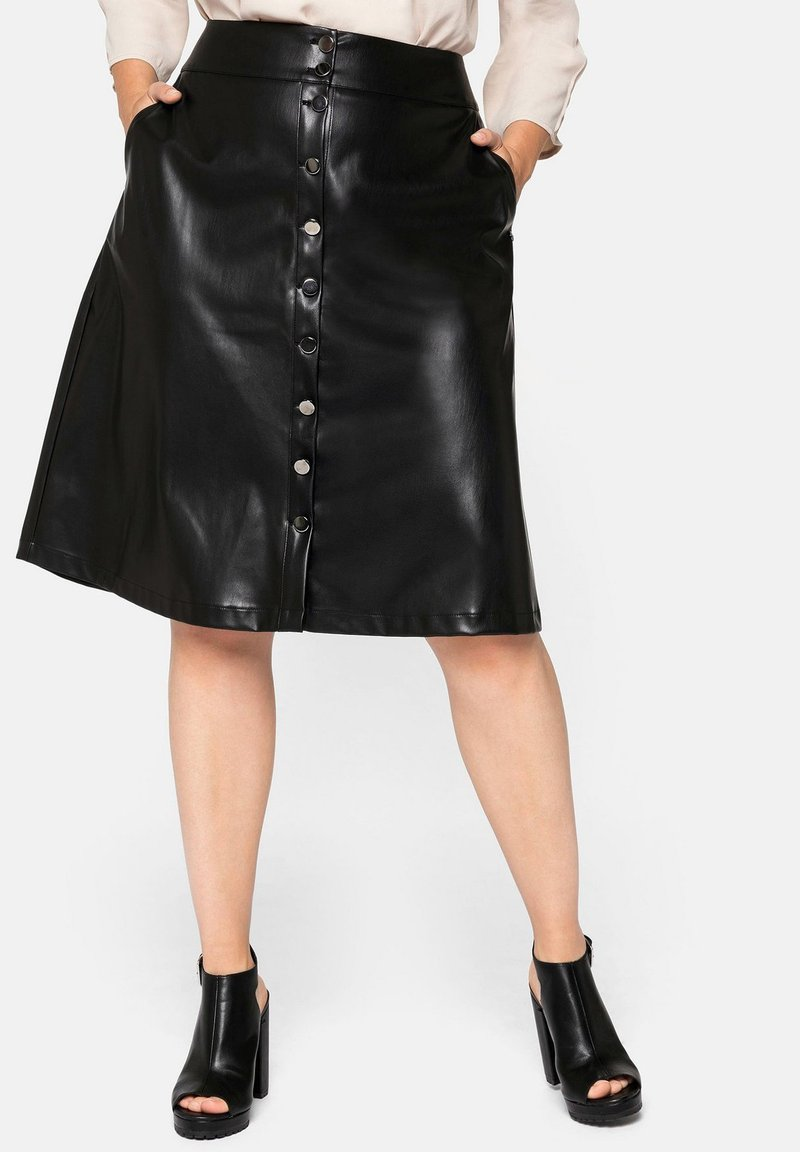 Sheego - A-line skirt - schwarz