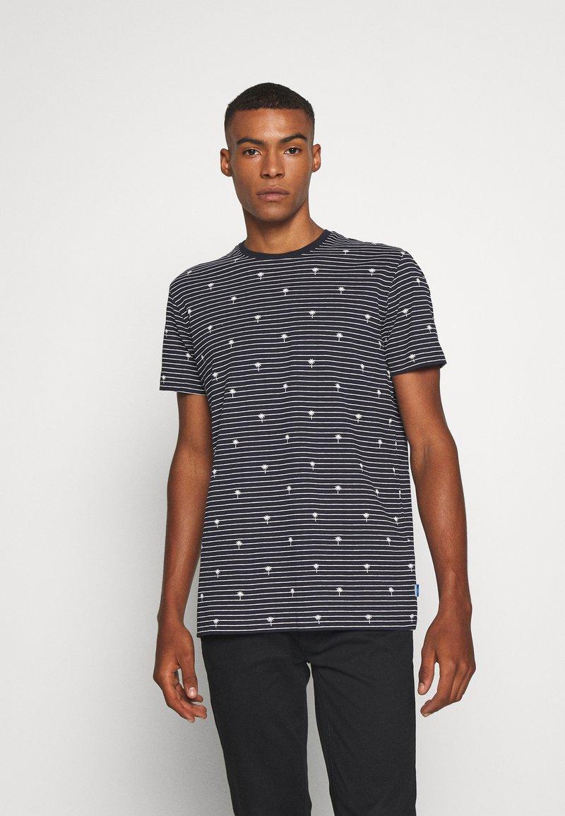 edc by Esprit - PALM - Print T-shirt - navy