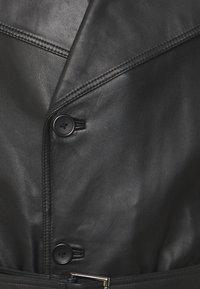 STUDIO ID - CHRISTIAN LEATHER COAT - Giacca di pelle - black - 2
