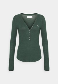 Abercrombie & Fitch - COZY HENLEY  - Long sleeved top - dark green - 4