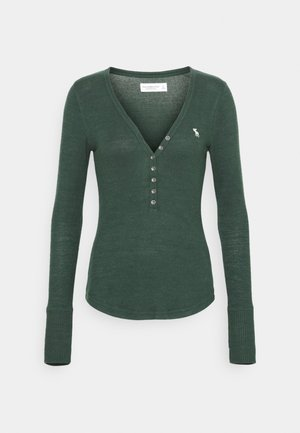 COZY HENLEY  - Long sleeved top - dark green