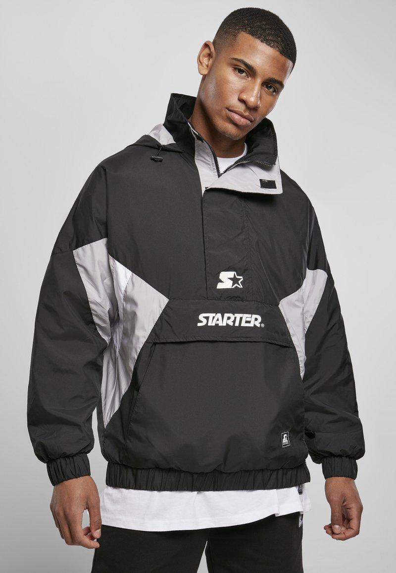 Starter - Windbreaker - black/silvergrey/white