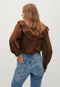 Mango - OSLO - Button-down blouse - russet - 2
