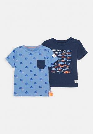 BABY 2 PACK - T-shirt print - dark blue/light blue