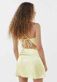 Bershka - A-line skirt - yellow - 2
