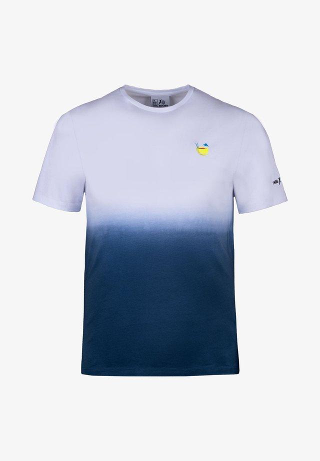 BOOZY BALL - T-shirt con stampa - weiß/blau