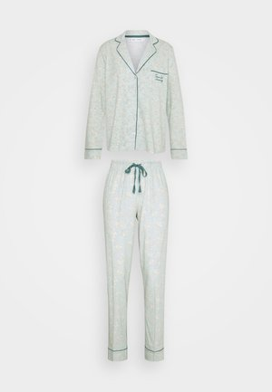 MASCULINE OPTIMISTE LONG BOUQUET PJ SET - Pyjamas - mint green