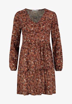 FREIZEITKLEID MIT BLUMENPRINT - Day dress - brown