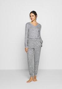 Anna Field - SET - Pyjama set - mottled grey - 1