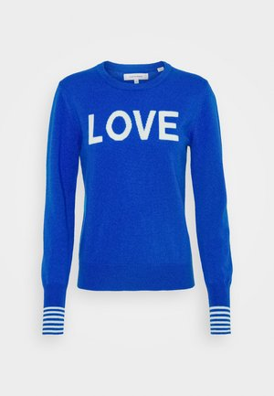 LOVE - Neule - royal blue/cream