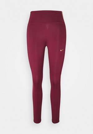 ONE COLORBLOCK - Tights - dark beetroot/red bronze