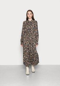 YAS - YASEMALLA LONG SHIRT DRESS  - Maxi dress - black emalla - 0