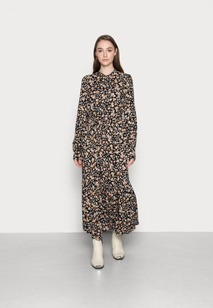 YASEMALLA LONG SHIRT DRESS  - Maxi dress - black emalla