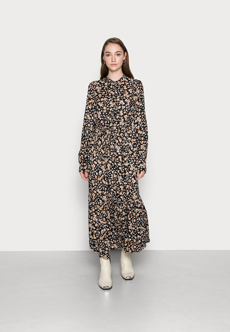 YAS - YASEMALLA LONG SHIRT DRESS  - Maxi dress - black emalla