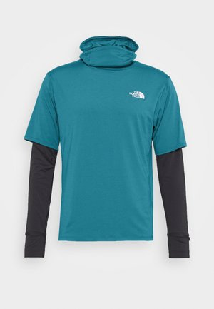 ACTIVE TRAIL STORM BALACLAVA - Long sleeved top - mallard blue/asphalt grey