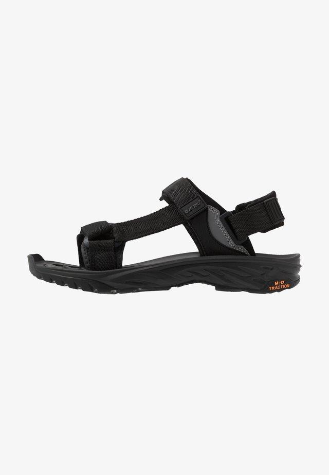 ULA RAFT - Chodecké sandály - black/charcoal