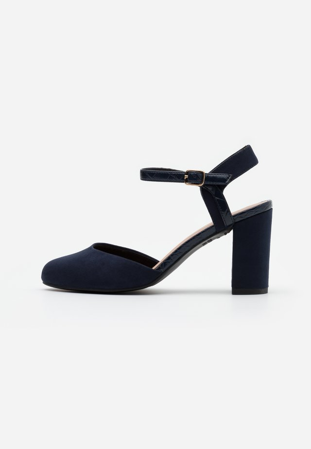 WIDE FIT SHUTTER 2PART - Zapatos altos - navy