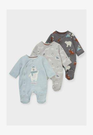 3 PACK - Sleep suit - dark gray/light gray