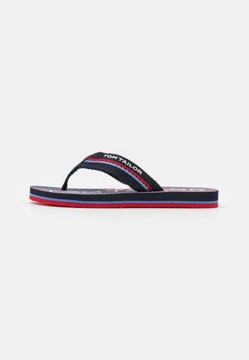 T-bar sandals - navy/red