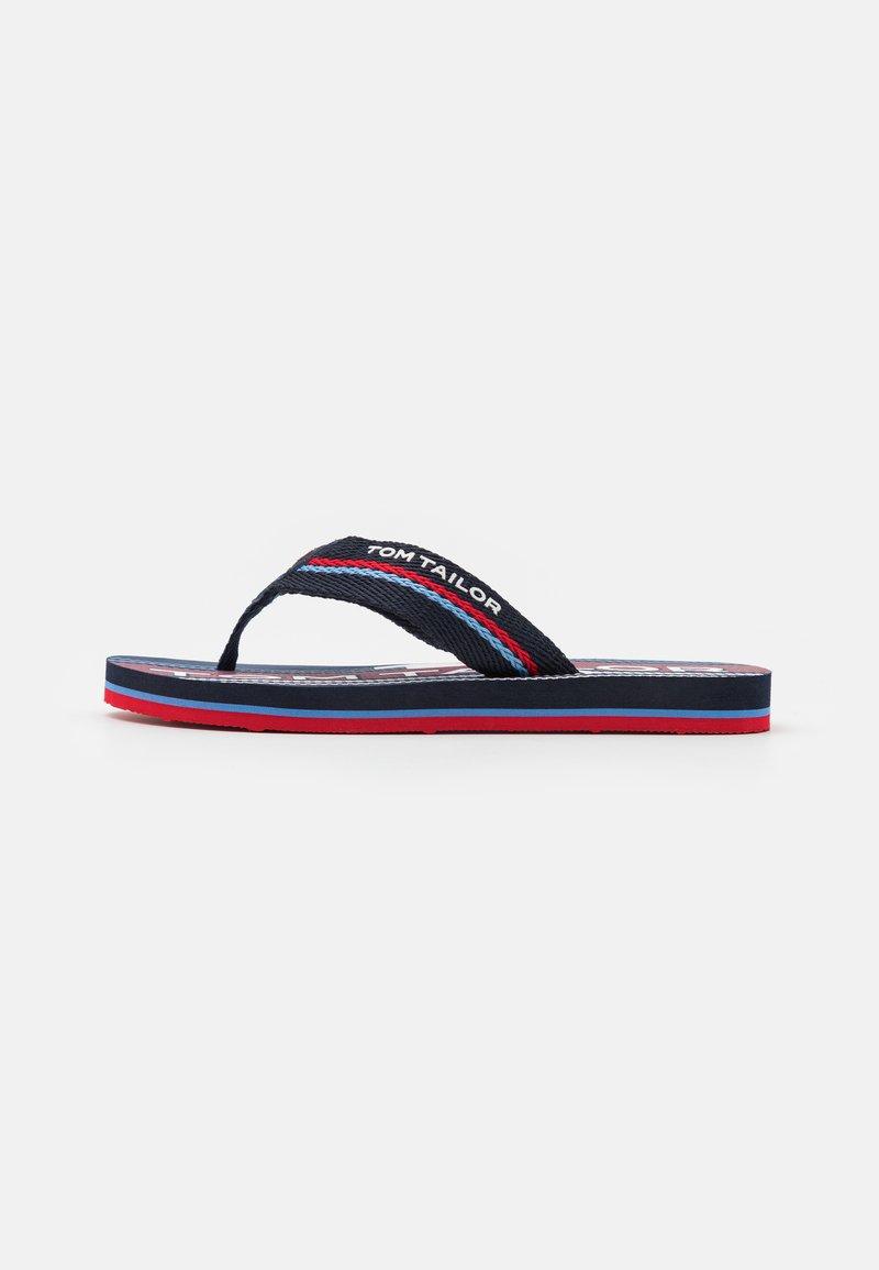 TOM TAILOR - T-bar sandals - navy/red