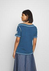 Benetton - T-shirt z nadrukiem - blue - 2