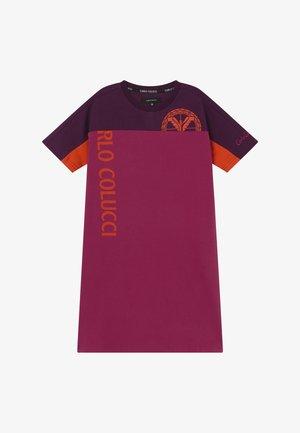 Jersey dress - pink/lila/orange