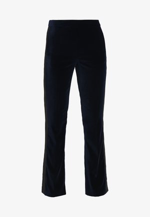 KARL VELVET TAILORED PANTS - Kalhoty - navy