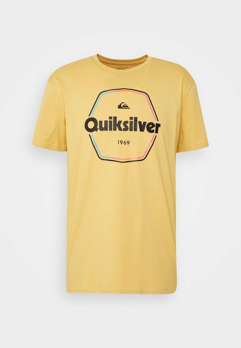 Quiksilver - HARD WIRED  - Triko spotiskem - rattan