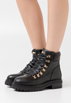 FRESH - Lace-up ankle boots - black