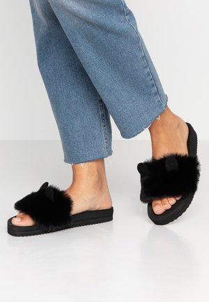 POOL MOUSE - Pantofle - black