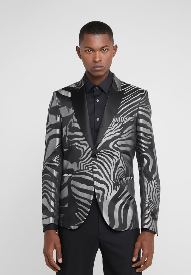 Blazer jacket - silver/black