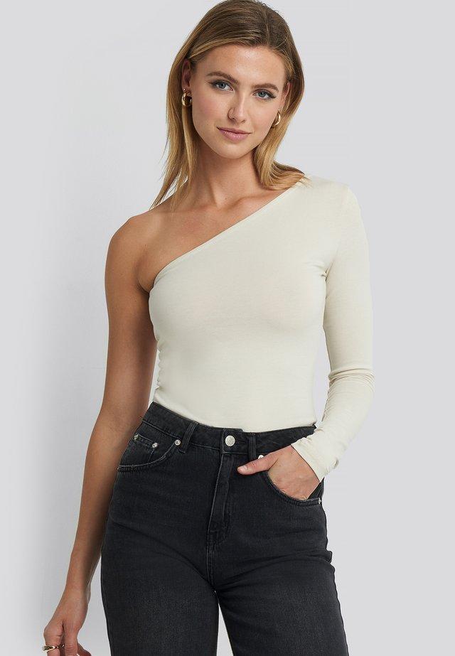 Long sleeved top - dusty light beige