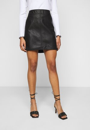 POCKET MINI SKIRT - Spódnica trapezowa - black