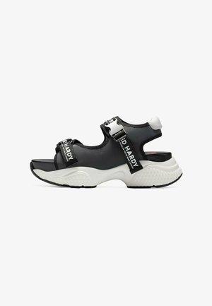 AQUA  - Walking sandals - iridescent charcoal