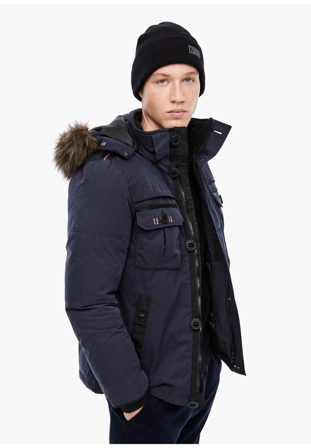 MIT FAKE FUR-BLENDE - Winter jacket - navy