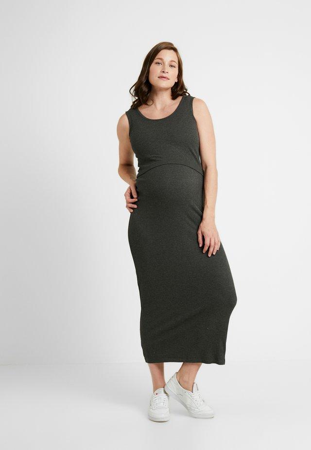 NURSING DRESS - Jersey dress - charcoal marle